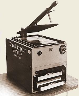 İlk kserografik yazıcı Model A XEROX